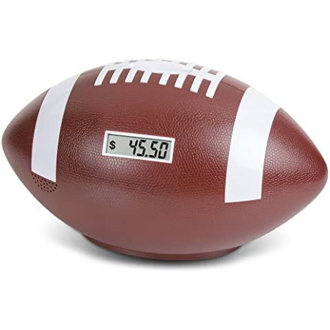 Football Coin Counting Piggy Bank - Count Coins and Save Money - 9 by Launch Innovative Products