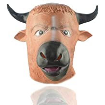 MIANJU@ Máscara De Halloween Halloween Bull Head Ghost Festival Devil Mask Horror Bull Head Horse