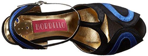 Bordello Sandalette GIGGLE-02 Schwarz/Blau