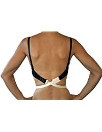 FASHION FIRST AID: Low Expectations BH-Verlängerung Rückenkonverter Erweiterung Tiefer BH-Verschluss Rückenfrei Beige Extra Lang