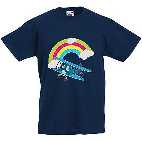 Bambini Collezione 207, Fruit of the Loom Valueweight Tee Blu Navy Bambino Ragazzo Maglietta Kids Boys Stampa T-Shirt. Taglia 92 98 104 116 128 140 152 164, 1-15