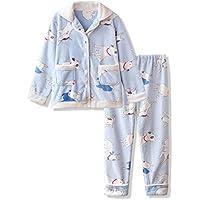 DUKUNKUN Pijamas Calientes Hembra Otoño Invierno Estampado De Perro De Dibujos Animados Ropa Casual Pijamas Caseros,XL