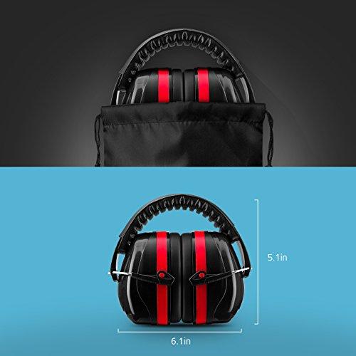 Homitt Ohrenschützer/ Gehörschutz mit verstellbar Kopfbügel für Erwachsene und Kinder inkl. Tragetasche, Anti-lärm bis SNR 34dB Kapselgehörschutz, Sicherheit Ear Muffs Headband Ohrenschutz