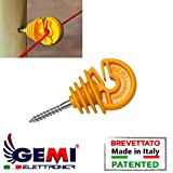 Isolatori Gemi Elettronica per Pali in Legno per Recinti Elettrici Recinzione Elettrificate 100 pezzi