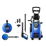Nilfisk 128471189 Idropulitrice 145 Bar con Motore a induzione (Include Patio Cleaner e Spazzola Rotante), 2100 W, 230 V, Black, Blue
