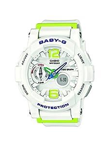 Casio Baby-G - Reloj de cuarzo para mujer, con correa de resina, color blanco de Casio