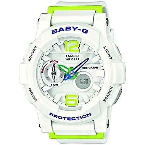 Casio Baby-G - Reloj de cuarzo para mujer, con correa de resina, color blanco