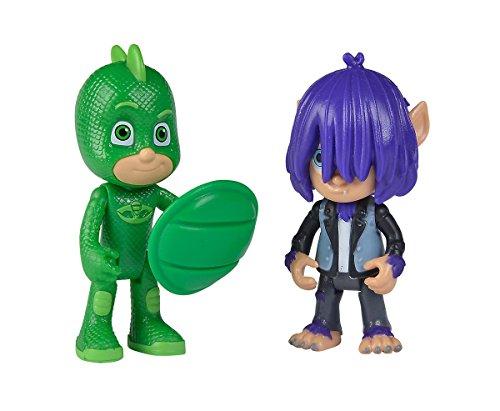 Simba 109402224 PJ Masks Figuren Set Gecko mit Kevin, Unisex-Kinder