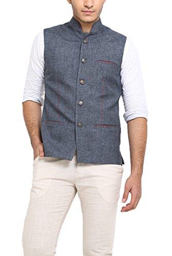 Shaftesbury London Men's Cotton Waistcoat (H1115--36, Grey, 36)