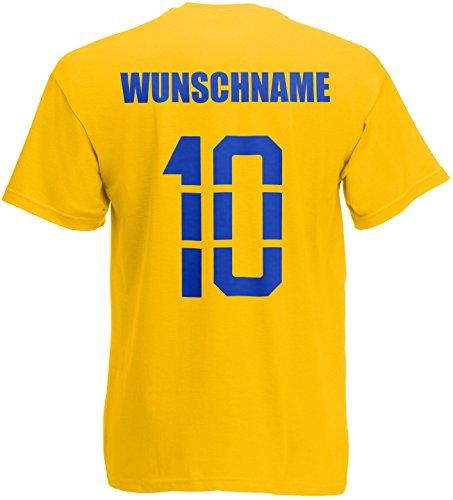 Schweden Sverige T-Shirt Trikot Name Nummer Gelb
