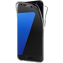 AICEK Coque Samsung Galaxy S7, 360°Full Body Transparente Silicone Coque pour Samsung Galaxy S7 Housse Silicone Etui Case (5,1 Pouces)