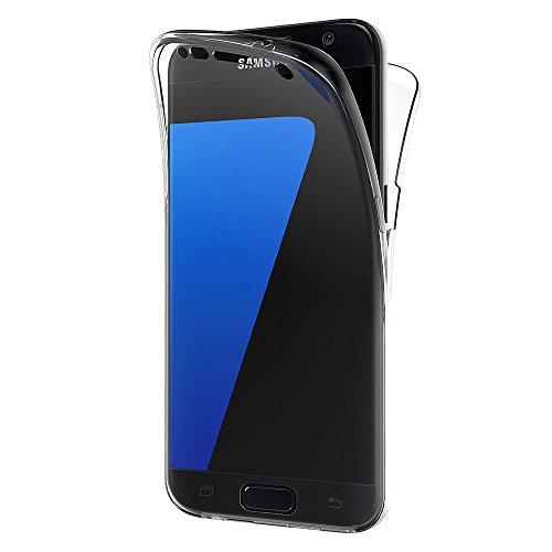 AICEK Samsung Galaxy S7 Hülle, 360°Full Body Transparent Silikon Schutzhülle für Samsung S7 Case Durchsichtige TPU Bumper S7 Handyhülle (5,1 Zoll)