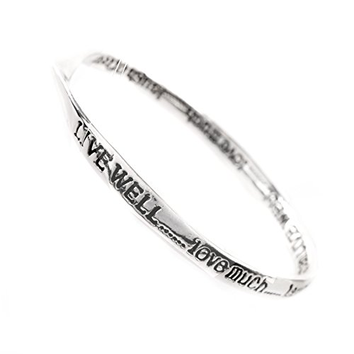 live-welllove-muchlaugh-often-silver-quote-bangle