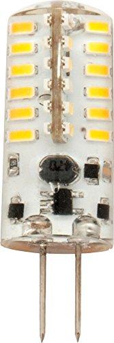 SeKi G4 LED Lampe 3 Watt A+, im Silica Gel, warmweiß 3000 Kelvin, ersetzt 25W