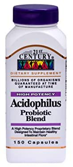 21st Century Acidophilus Probiotic Blend - 150 Capsules