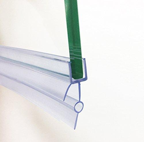 hnnhome Esstischstühle Crystal Clear Badewannen-/Duschwanddichtung aus Kunststoff für 4–6mm Glasdicke gerade 16–22mm Lücke (Dusche Teilen)