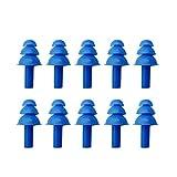 PIDD 10 PCS Silikon Aquatics Ohrenstöpsel Blau