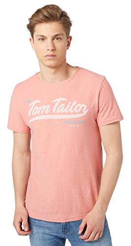 Tom Tailor Denim für Männer T-Shirt T-Shirt mit Logo-Print light berry mauve S