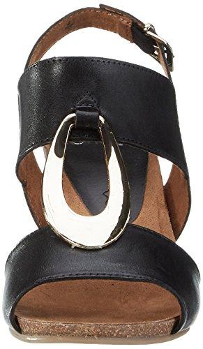 Caprice 28308, Sandales Bout Ouvert Femme Noir (Black Nappa)