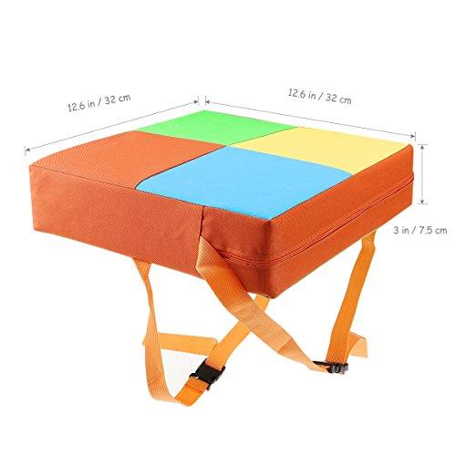 Toyvina Baby Kinder Kinder Esszimmerstuhl Booster Kissen Sitze zerlegbare und Einstellbare Booster Sitz Hochstuhl Matte (Orange) -