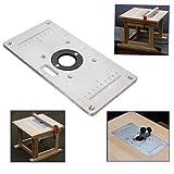 Tisch-Einsatz für Holzbänke, 235 x 120 x 8 mm, Aluminium