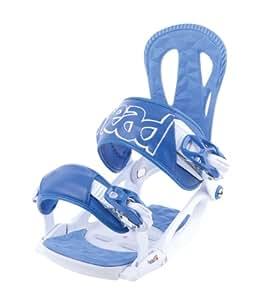 Head NX One Snowboard Bindings - White/Blue, Large