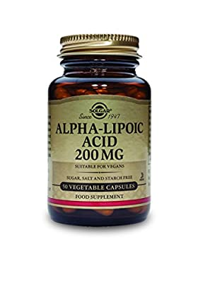 Solgar Alpha Lipoic Acid 200 mg Vegetable Capsules - 50 Vegicaps