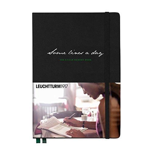 Leuchtturm1917 343552 Some Lines a Day - Das Fünfjahresbuch (Medium, A5) schwarz