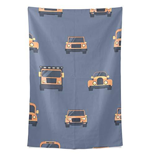 Pickup Auto LKW Cartoon Mode Wandteppich Wandbehang Kühle Post Drucken Für Wohnheim Hause Wohnzimmer Schlafzimmer Tagesdecke Picknick Bettlaken 80X60 Zoll -