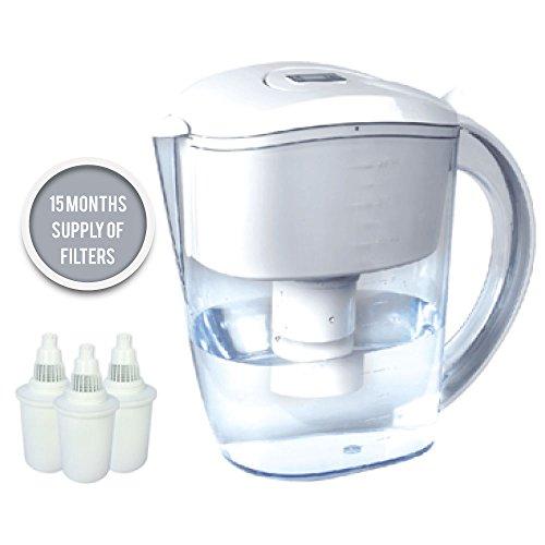 Enthält Antioxidans (BUKO Alkalischer Wasserkrug 3,5 Liter, reiner gesunder Wasserionisierer, 3 Filterpatronen eingeschlossen, pH-Test-Streifen BPA, gesundes, sauberes Gift-Wasser in den Minuten, steigern Ihre Energie und Immunsystem (weiß))