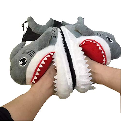 (SCYTSD Winter Warm Cute Shark Head Home Cotton Slippers Männer und Frauen Schlafzimmer)