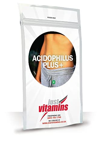 Just Vitamins Acidophilus Plus+ (5 billion) Probiotic 180 Capsules with Prebiotic for Digestion and Digestive