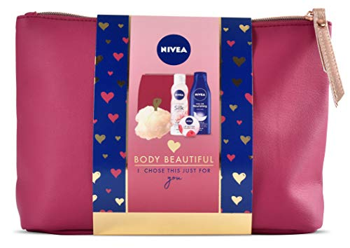 Nivea Gift Set, Body Beautiful Gift Pack for Her with 3 Items