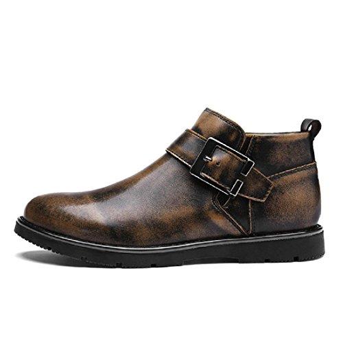 Hommes Nouvelle Mode Loisirs Chaussures En Cuir Chaussures Ballet Chaussures Garder Au Chaud Bottes D'hiver Protection Des Pieds Euro Taille 38-44 Marron