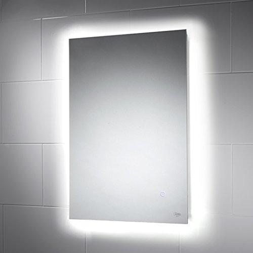 Savannah illuminated led bathroom mirror 500mm x 700mm led colour led colour change ambient mood lighting sale on sale aloadofball Choice Image