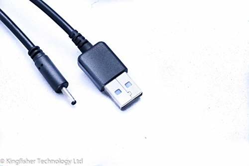 Kingfisher Technologie 2 m USB 5 V 2 A PC Schwarz Ladegerät Power Kabel Adapter (22AWG) für BTC Flame 7? IPS A33 I88 Tablet
