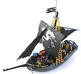 playmobil ® - Piraten Schiff - Piratenschiff - 6678 - Piraten-Kampfschiff Totenkopfschiff mit viel Zubehör