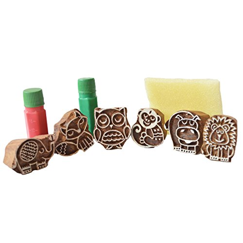 Shumee Wooden Forest Friends Stamps For Toddlers, Kids, Preschool Age Children | Premium Educational Toy - Sparks Imagination | 100% Safe, Natural & Eco-Friendly | 3 Years+