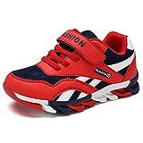 Yi Buy Baskets Mode Enfants Garçon Fille Chaussures de Sport Antidérapantes Chaussure de Course(Rouge 35 EU)