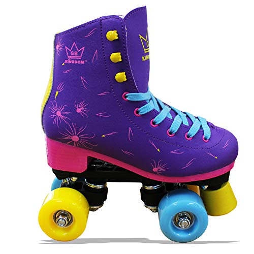 Kingdom GB Venus v2 Quad Rollschuhe 4 Rollen Skates (Violett v2, 33 EU) -