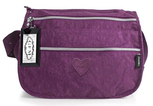 GFM Fashion, Borsa a tracolla donna Multicolore multicolore Small Style 8 - Purple (#GHJMN)