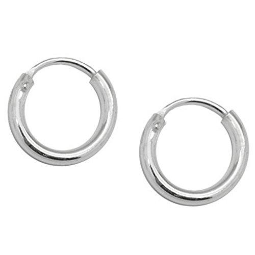 SoulCats® Creolen Creole 925 echt sterling Silber Ohrringe silbern 8 12 16 20 25 mm, Größe:8 mm