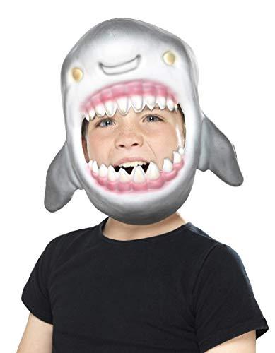 Smiffy'S 46975 Máscara Completa Cabeza De Tiburón Eva, Gris, Tamaño Único