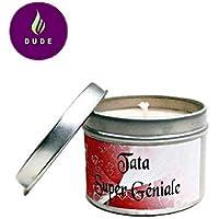 Bougie Parfumée Tata Super Géniale Parfum au choix Coeur Rouge Bougie Naturelle Cadeau Tata Cadeaux Noël Cadeaux Anniversaire Merci Baptême Communion Cadeaux Cadeaux Personnalisés