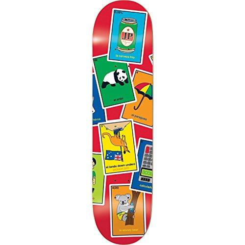 Enjoi Pilz La Loteria Deck-8.0R7-montiert als Komplett Skateboard