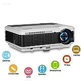 Proiettore LED WIKISH, Videoproiettore multimediale Home Cinema Proiettore 4500 Lumen...