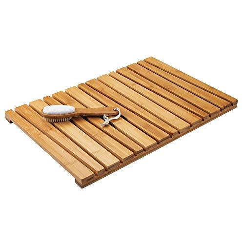 mDesign Alfombra de bambú Antideslizante para Uso en Interiores y...