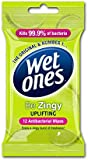 Wet Ones Be Zingy Antibacterial Wipes Pack of 6