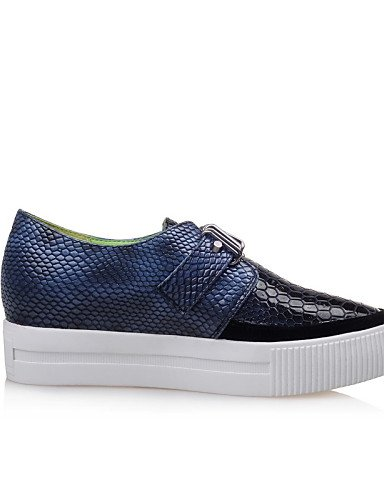 ZQ gyht Scarpe Donna-Sandali-Ufficio e lavoro / Casual-Plateau / Creepers / A punta-Plateau-PU-Blu / Marrone , blue-us5 / eu35 / uk3 / cn34 , blue-us5 / eu35 / uk3 / cn34 brown-us6 / eu36 / uk4 / cn36