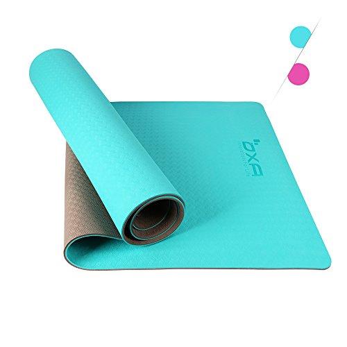 OXA TPE Eco Premium Yoga Matte, 6mm Extra Dick 71-Zoll lang Große, rutschfeste Anti-Riss-recycelbare Antibakterielle Matte für Workout Fitness mit Tragegurt und Yoga gurt